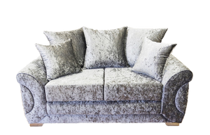Colorado Glitz Crushed Velvet 2 Seater Pillow Back Sofa