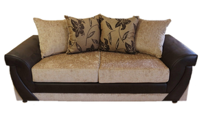 Lush Chenille 3 Seater Pillow Back Sofa