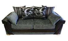 Load image into Gallery viewer, Lush Chenille 3 Seater Pillow Back Sofa Bed