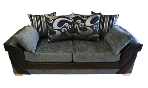 Lush Chenille 3 Seater Pillow Back Sofa Bed