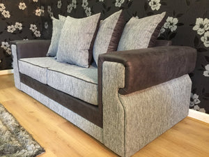 Turin 3 Seater Pillow Back Sofa