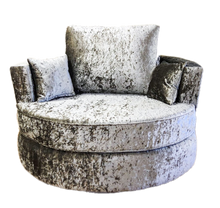 Load image into Gallery viewer, Angelica Glitz Crushed Velvet Swivel Chair
