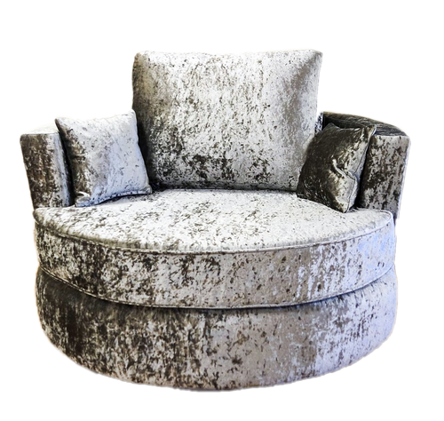 Colorado Glitz Crushed Velvet Swivel Chair