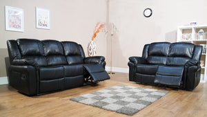 Lucca Recliner Sofas in Black