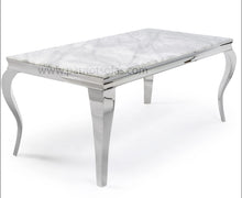Load image into Gallery viewer, Louis Grey Marble Dining Set