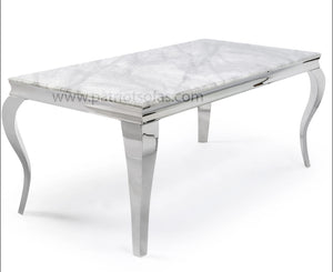Louis Grey Marble Dining Set