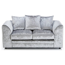 Load image into Gallery viewer, Paris Glitz Crushed Velvet 2 Seater Sofa