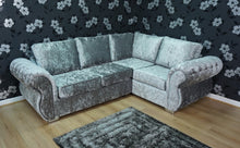 Load image into Gallery viewer, Rio Glitz Crushed Velvet Right Hand Formal Back Corner Sofa