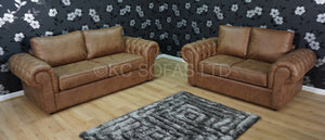 St Andrews Luxury 3 Seater & 2 Seater Formal Back Sofa Set