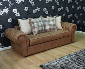 St Andrews Luxury 3 Seater Pillow Back Sofa