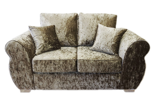 Helix Glitz Crushed Velvet 2 Seater Formal Back Sofa