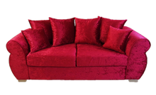 Load image into Gallery viewer, Helix Glitz Crushed Velvet 3 Seater Pillow Back Sofa
