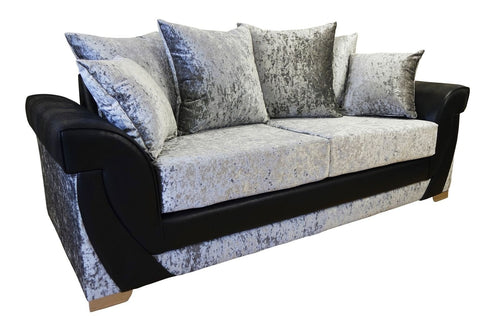 Lush Glitz Crushed Velvet 3 Seater Sofa