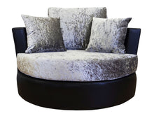 Load image into Gallery viewer, Lush Glitz Crushed Velvet Swivel Chair