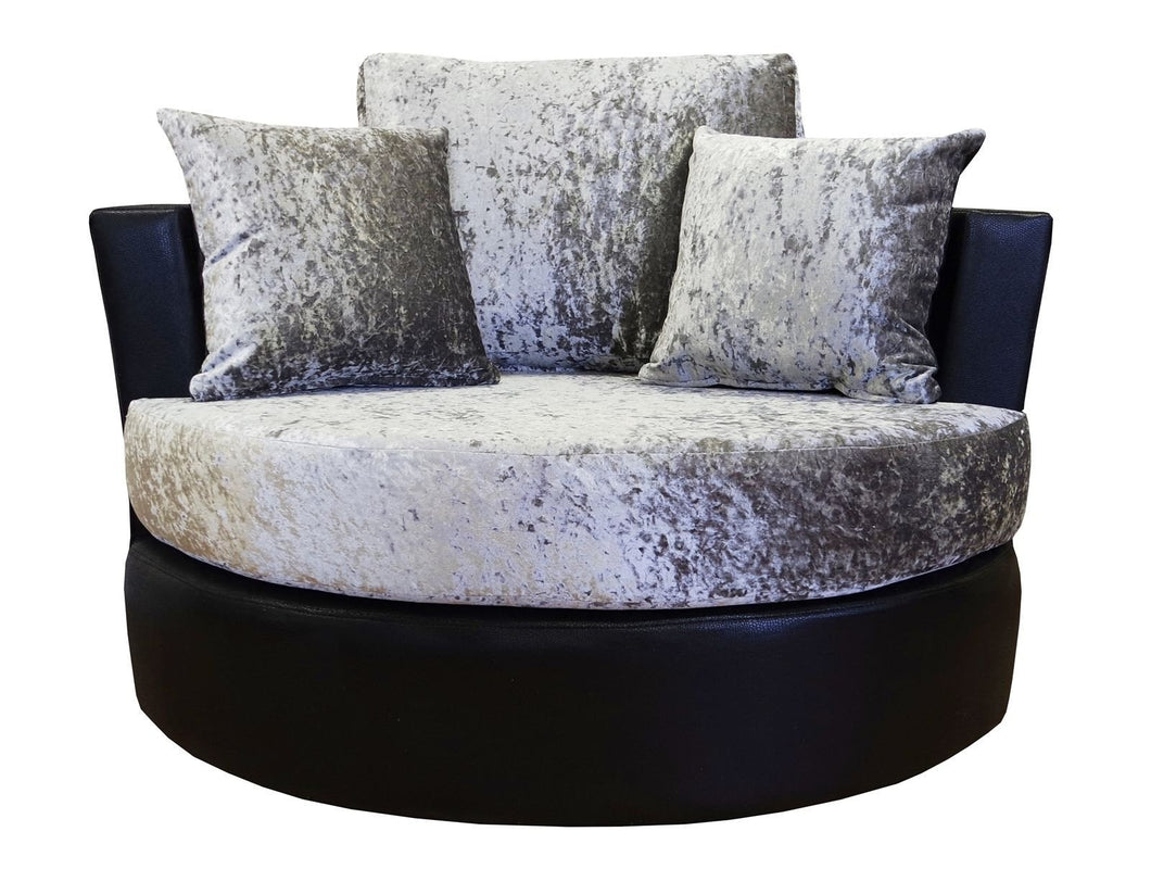 Lush Glitz Crushed Velvet Swivel Chair
