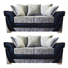 Load image into Gallery viewer, Lush Glitz Crushed Velvet 3 Seater & 2 Seater Sofa Set