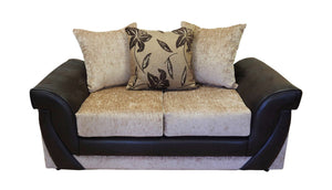 Lush Chenille 2 Seater Pillow Back Sofa