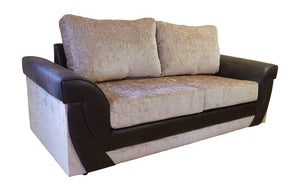 Lush Chenille 3 Seater Formal Back Sofa Bed