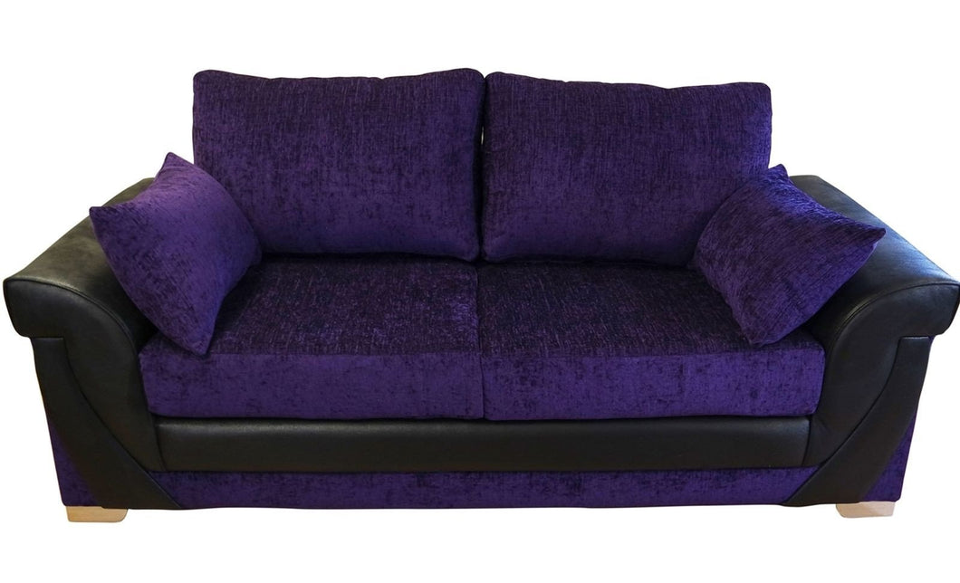 Lush Chenille 3 Seater Formal Back Sofa