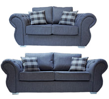 Load image into Gallery viewer, Rio 3 Seater & 2 Seater Formal Back Sofa Set