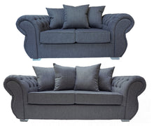 Load image into Gallery viewer, Rio 3 Seater & 2 Seater Pillow Back Sofa Set