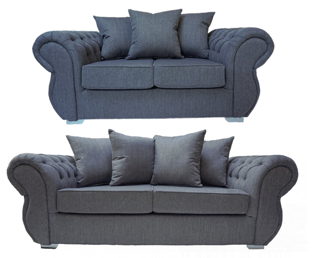 Rio 3 Seater & 2 Seater Pillow Back Sofa Set