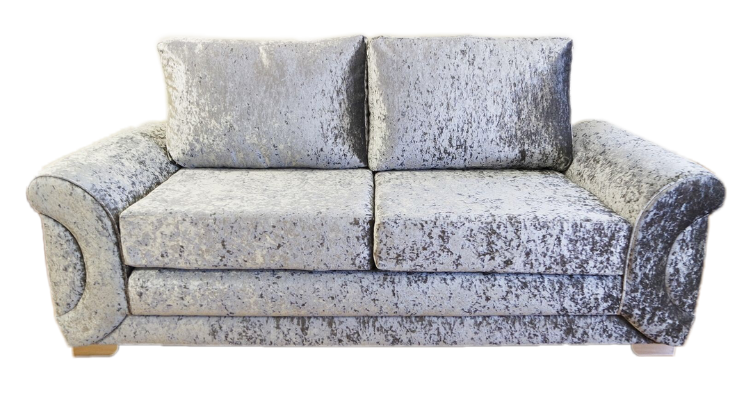 Colorado Glitz Crushed Velvet 3 Seater Formal Back Sofa