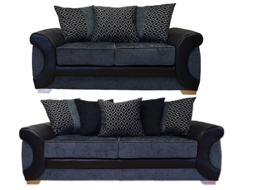 Colorado 3 Seater & 2 Seater Pillow Back Sofa Set