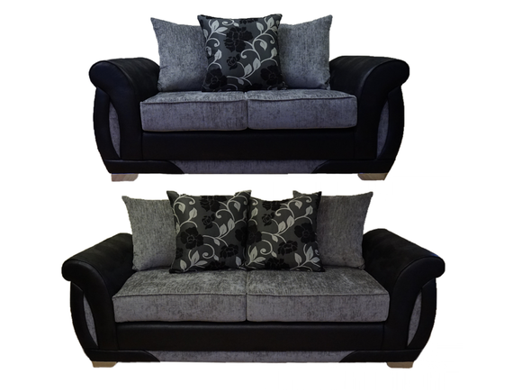 Shannon 3 Seater & 2 Seater Pillow Back Sofa Set
