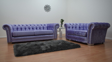 Load image into Gallery viewer, Chesterfield Glitz Crushed Velvet 3 Seater & 2 Seater Sofa Set