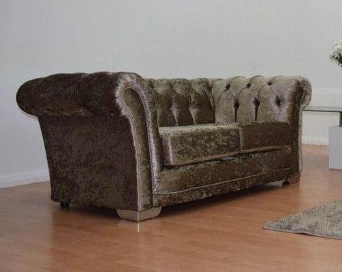 Chesterfield Glitz Crushed Velvet 2 Seater Sofa