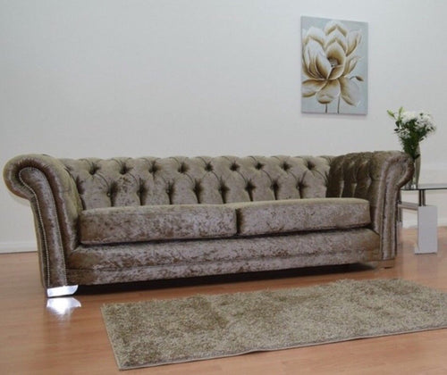 Chesterfield Glitz Crushed Velvet 3 Seater Sofa