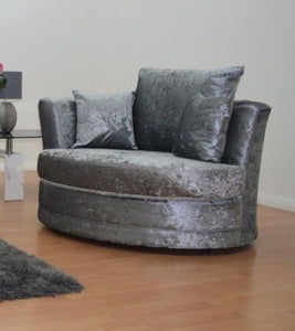Chesterfield Glitz Crushed Velvet Swivel Chair