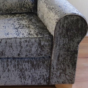 Barca Glitz Crushed Velvet Left Hand Pillow Back Corner Sofa