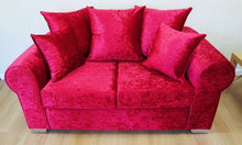 Load image into Gallery viewer, Barca Glitz Crushed Velvet 2 Seater Pillow Back Sofa