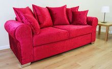 Load image into Gallery viewer, Barca Glitz Crushed Velvet 3 Seater Pillow Back Sofa