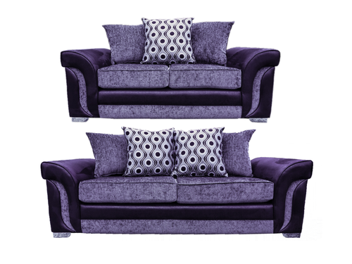 Cassius 3 Seater & 2 Seater Pillow Back Sofa Set