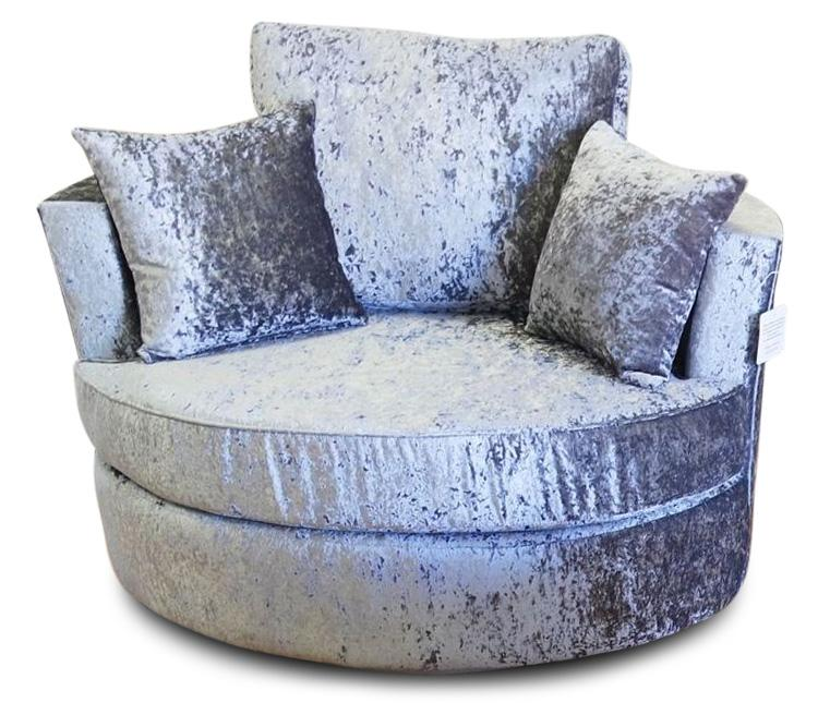 Delta Glitz Crushed Velvet Swivel Chair