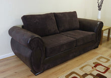 Load image into Gallery viewer, Chloe 3 Seater Formal Back Sofa Bed
