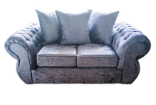 Load image into Gallery viewer, Rio Glitz Crushed Velvet 2 Seater Pillow Back Sofa