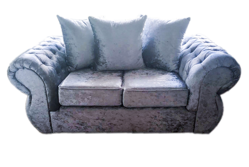 Rio Glitz Crushed Velvet 2 Seater Pillow Back Sofa