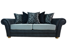 Load image into Gallery viewer, Perez Noir (Exclusive) 3 Seater Pillow Back Sofa