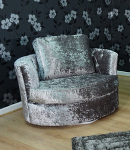 Rio Glitz Crushed Velvet Swivel Chair