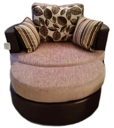 Kirk Vienna Swivel Chair (Including Moon Footstool)
