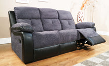 Load image into Gallery viewer, Roma Recliner Sofas in Grey/Black