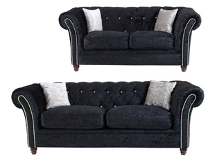 Derby Chesterfield 3 Seater & 2 Seater Sofa Set