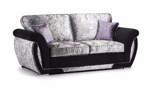 Shannon Glitz Crushed Velvet 2 Seater Formal Back Sofa