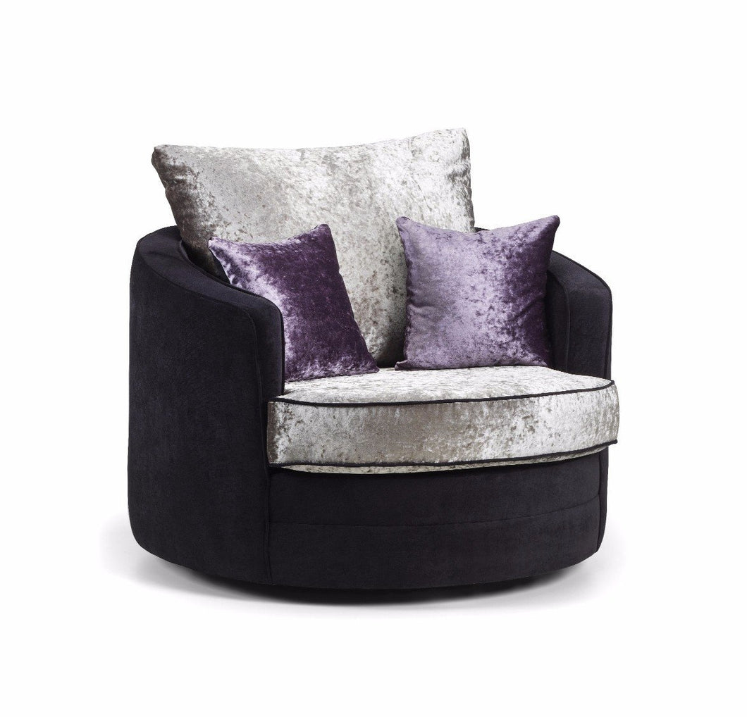 Shannon Glitz Crushed Velvet Swivel Chair