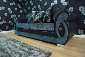 Chloe 3 Seater Pillow Back Sofa Bed