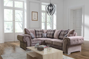 Verona Left Hand Pillow Back Corner Sofa